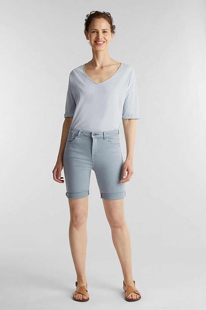 EarthColors® Jogg-Shorts, LIGHT BLUE LAVENDER, detail image number 1