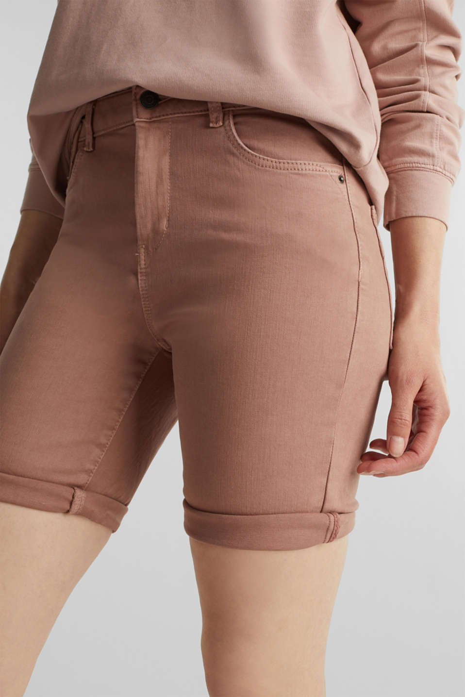 EarthColors® jogging shorts, MAUVE, detail image number 2