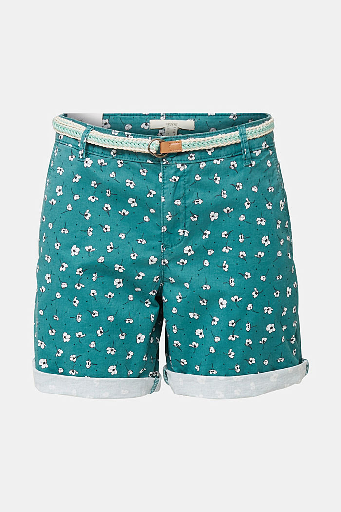 Cotton shorts with Lycra xtra life™, TEAL GREEN, detail image number 6