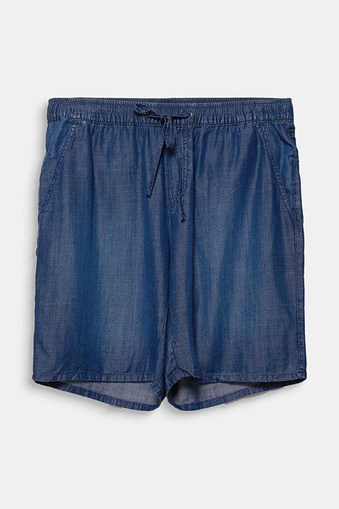 CURVY lyocell denim shorts