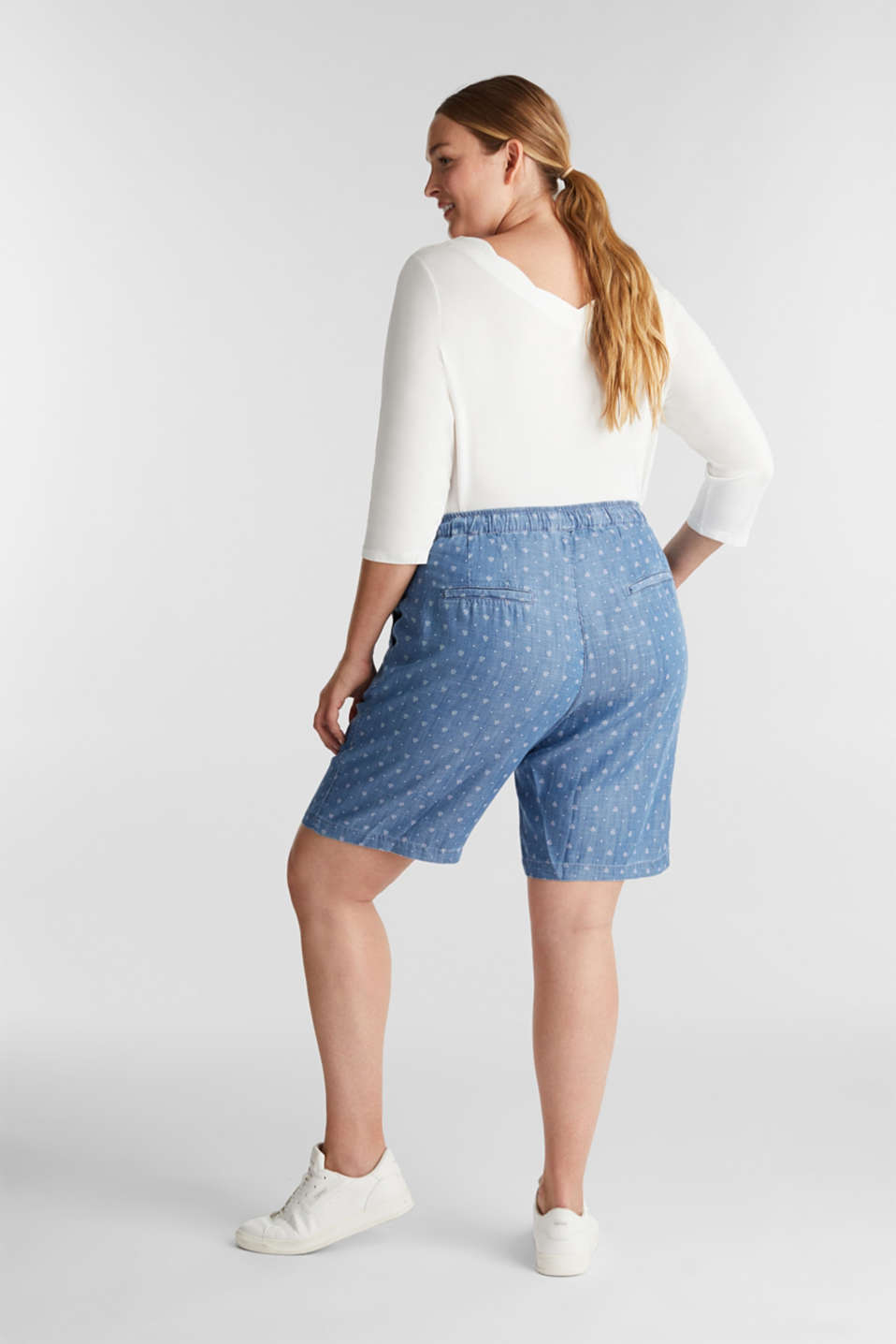 CURVY made of TENCEL™: Shorts, BLUE MEDIUM WASH, detail image number 2