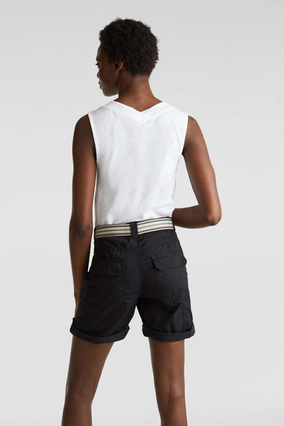 PLAY organic cotton shorts, BLACK, detail image number 3