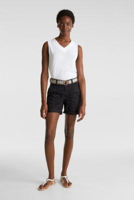 PLAY organic cotton shorts, BLACK, detail