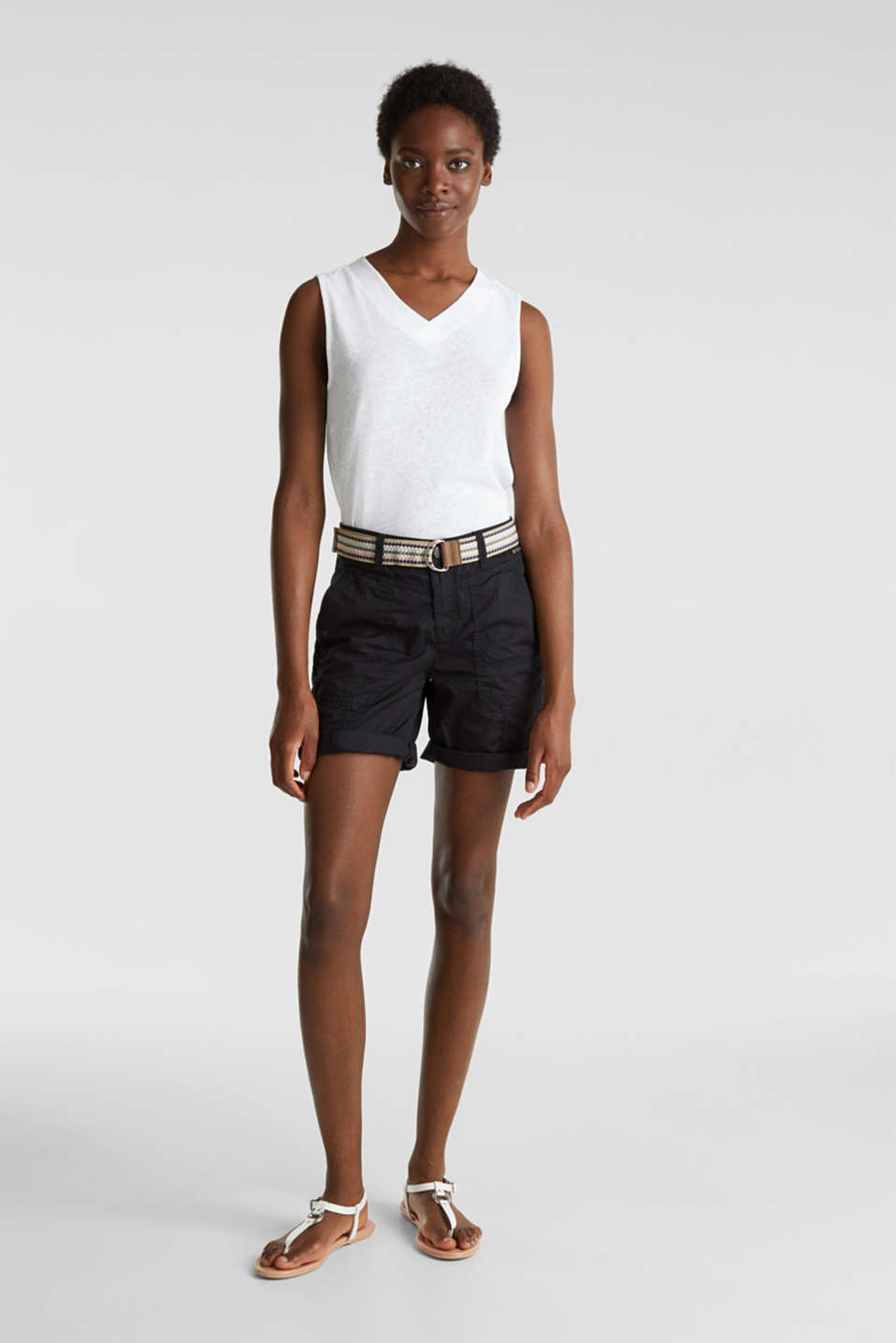 PLAY organic cotton shorts, BLACK, detail image number 1
