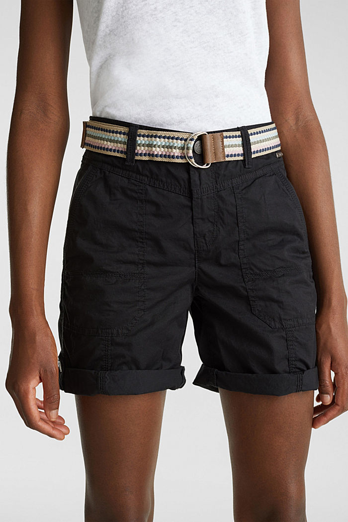 PLAY organic cotton shorts, BLACK, detail image number 2