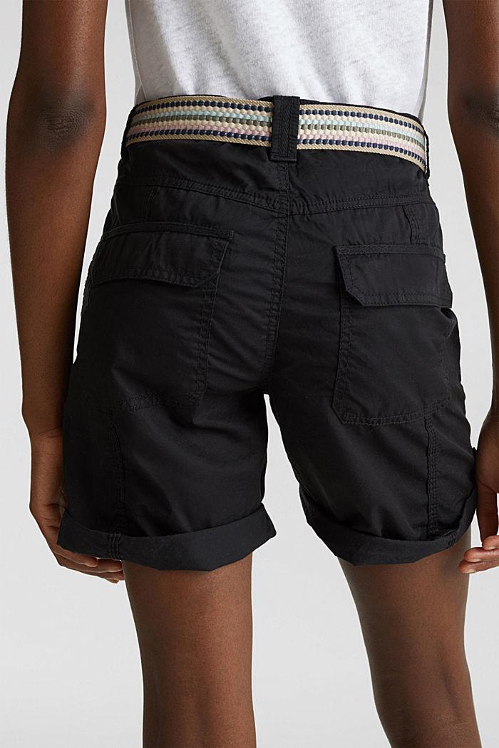 PLAY organic cotton shorts, BLACK, detail image number 5