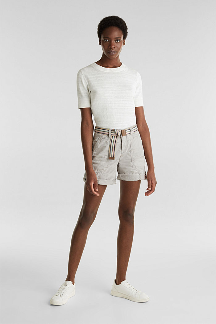PLAY organic cotton shorts, LIGHT GREY, detail image number 0