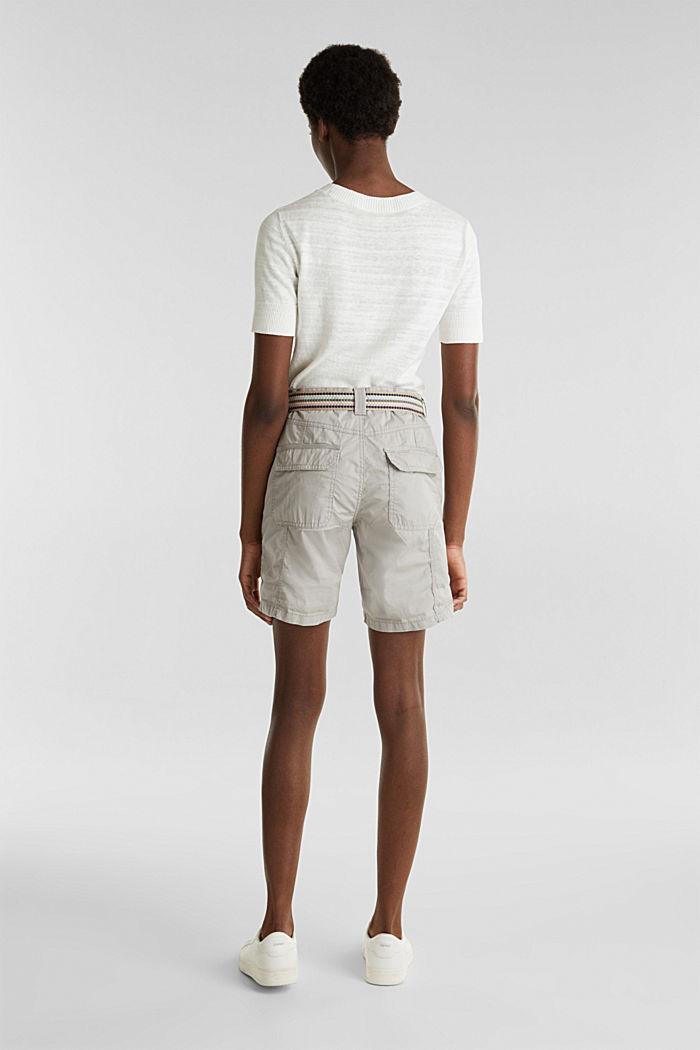 PLAY organic cotton shorts, LIGHT GREY, detail image number 3