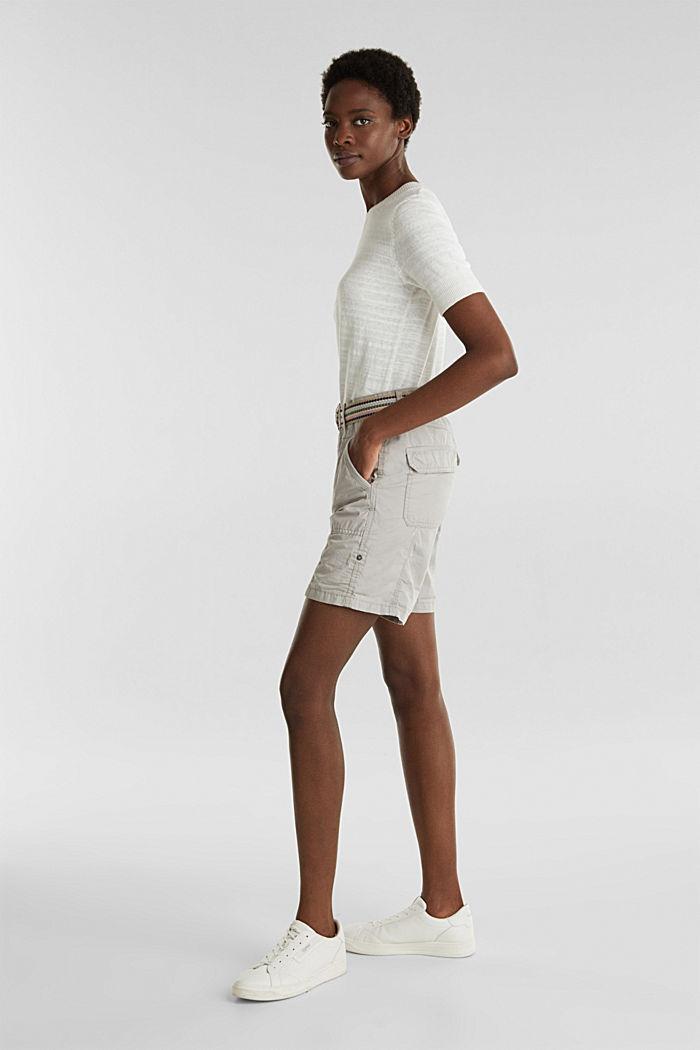 PLAY organic cotton shorts, LIGHT GREY, detail image number 1