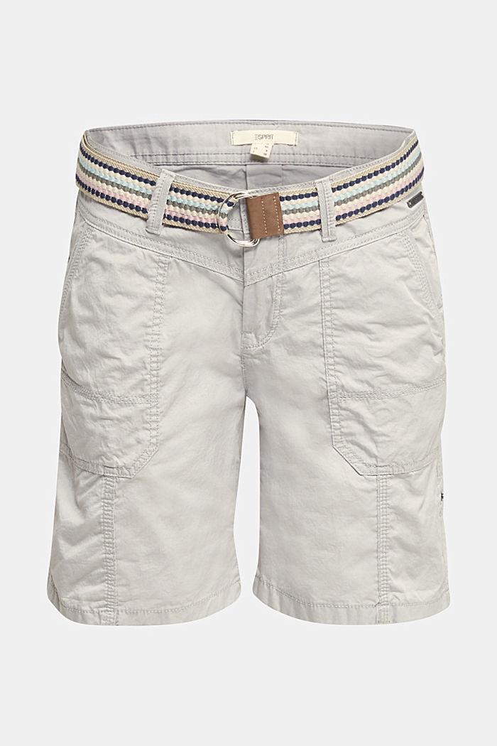 PLAY organic cotton shorts, LIGHT GREY, detail image number 6