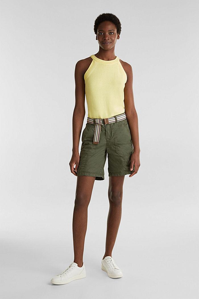 PLAY Bio-Baumwoll-Shorts, KHAKI GREEN, detail image number 0