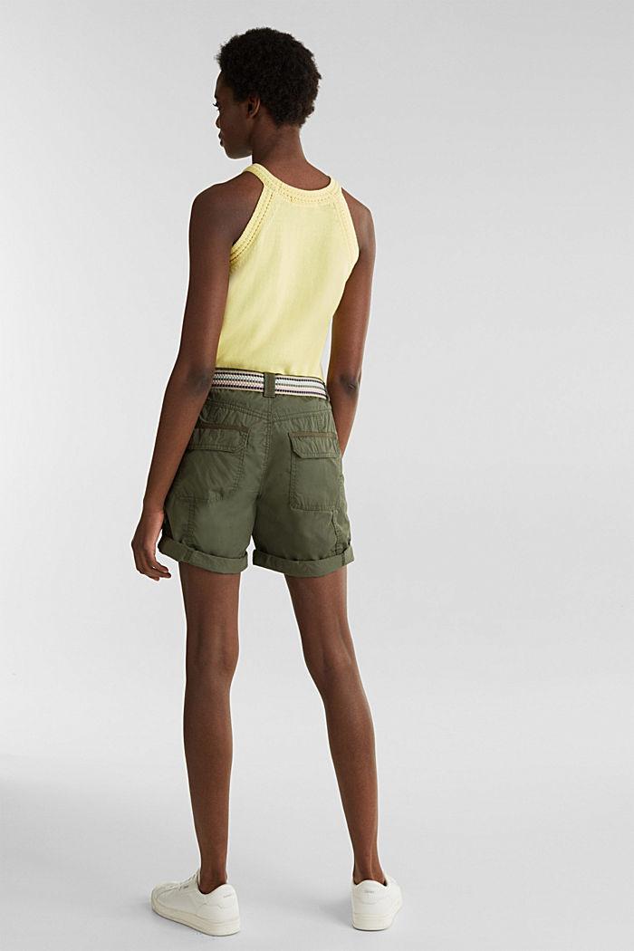 PLAY Bio-Baumwoll-Shorts, KHAKI GREEN, detail image number 3