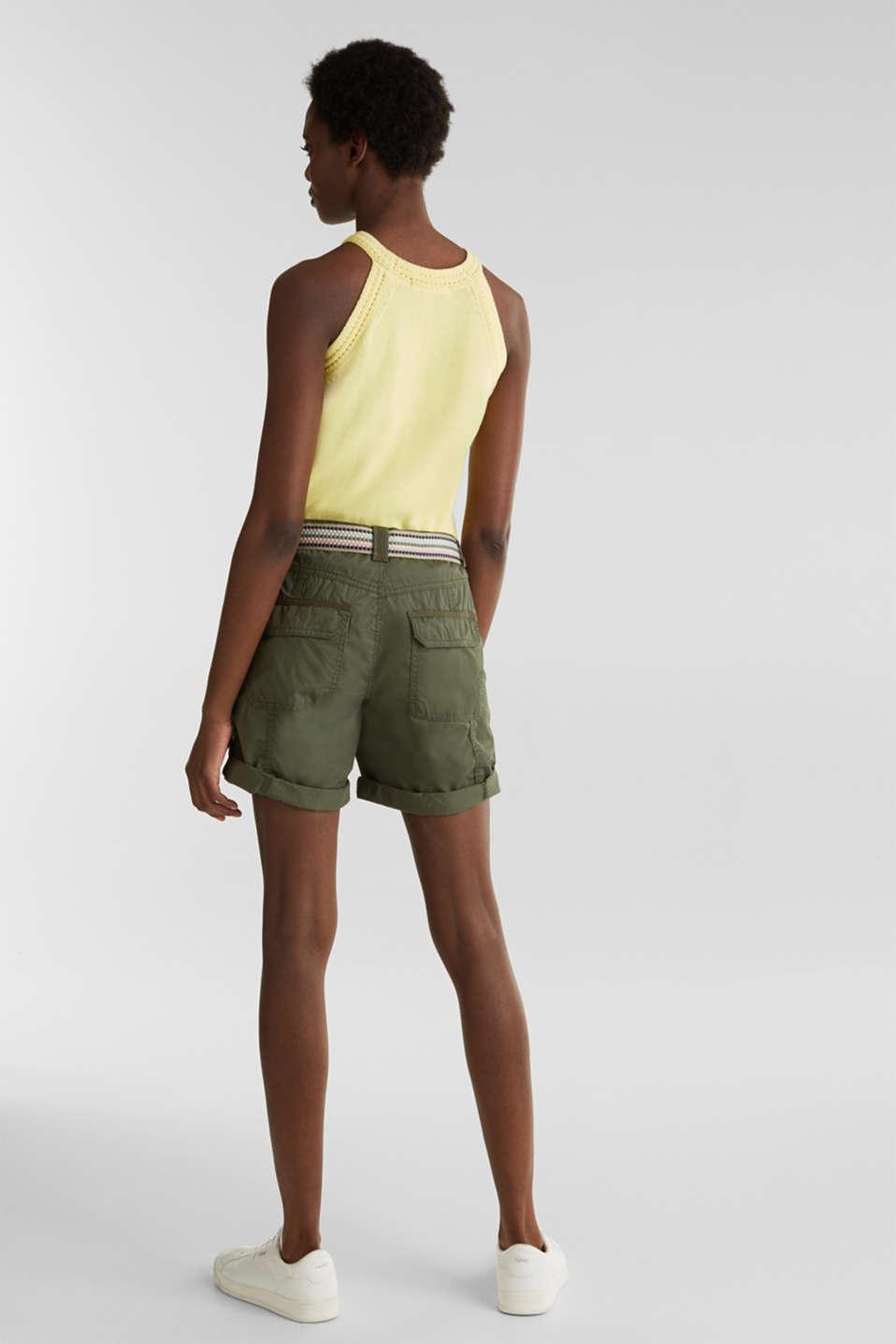 PLAY organic cotton shorts, KHAKI GREEN, detail image number 3