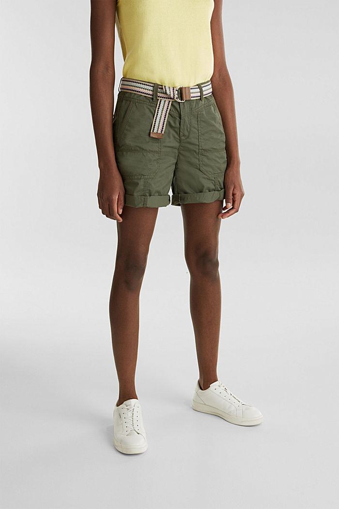 PLAY Bio-Baumwoll-Shorts, KHAKI GREEN, detail image number 5
