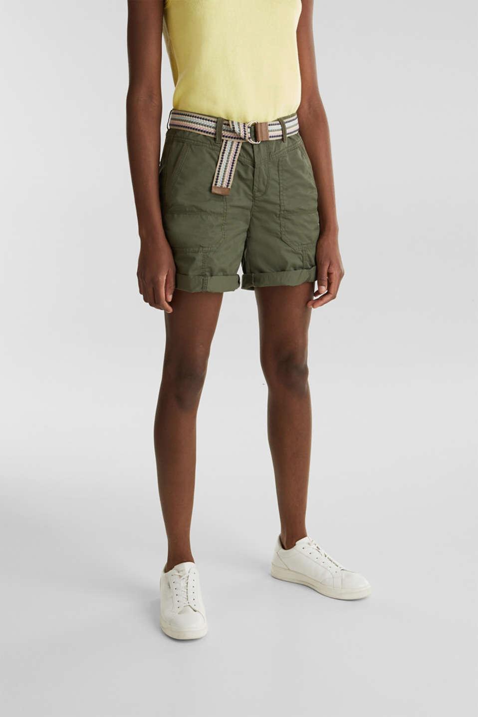 PLAY organic cotton shorts, KHAKI GREEN, detail image number 5