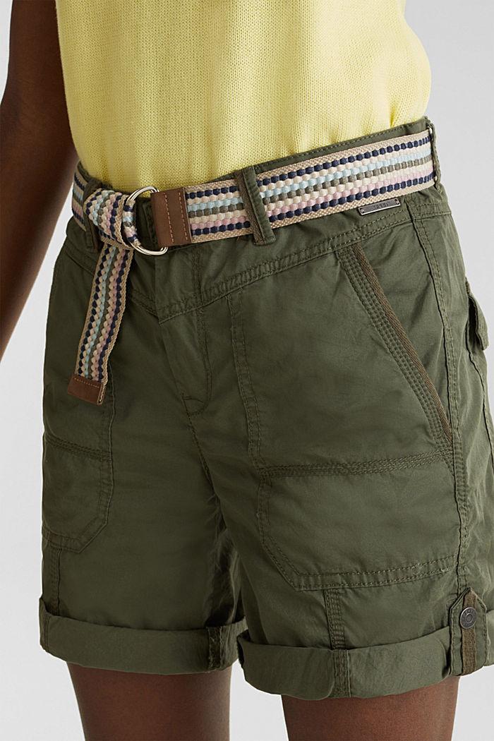 PLAY Bio-Baumwoll-Shorts, KHAKI GREEN, detail image number 2