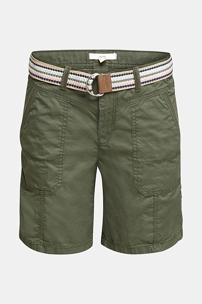 PLAY Bio-Baumwoll-Shorts, KHAKI GREEN, detail image number 6