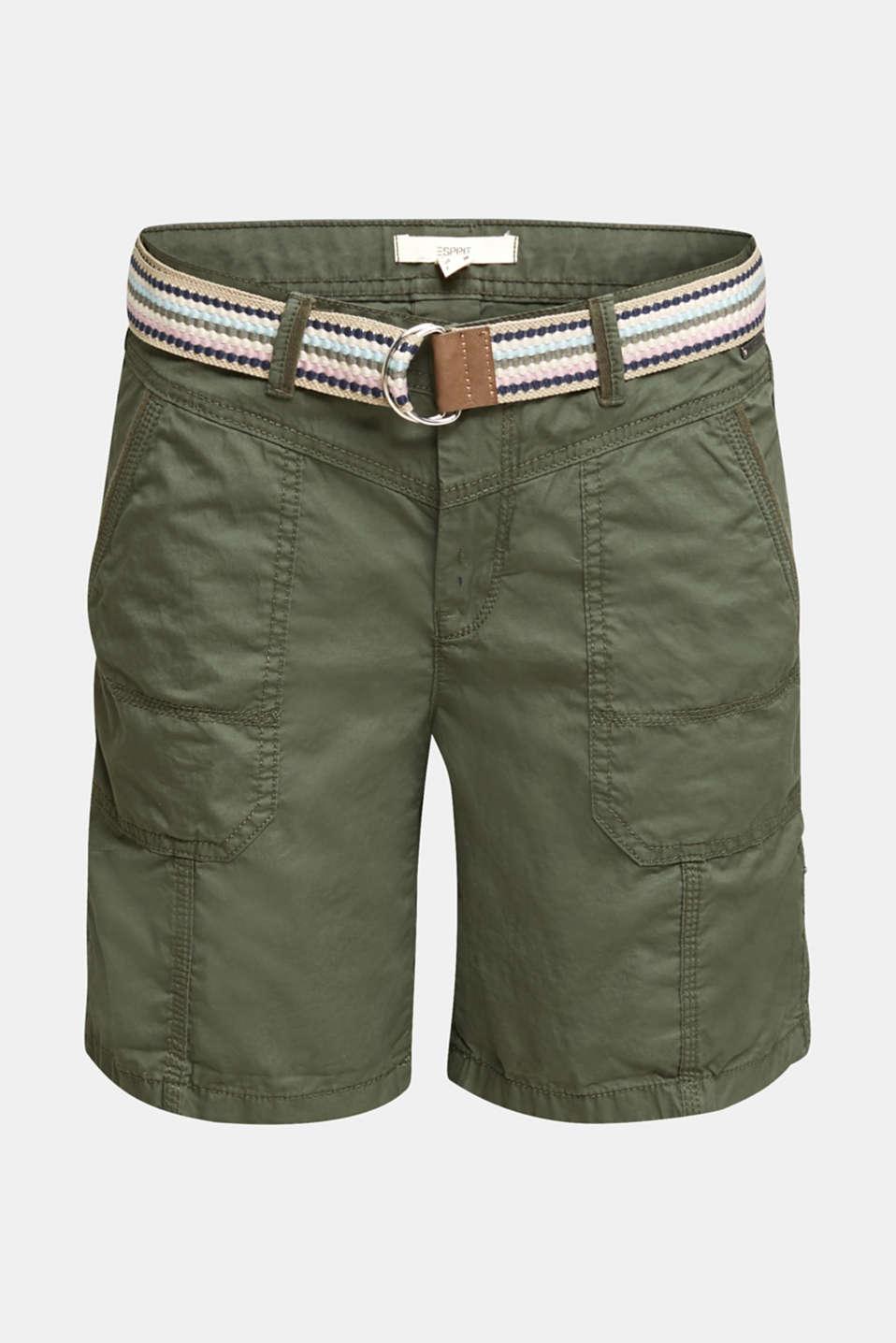 PLAY organic cotton shorts, KHAKI GREEN, detail image number 6