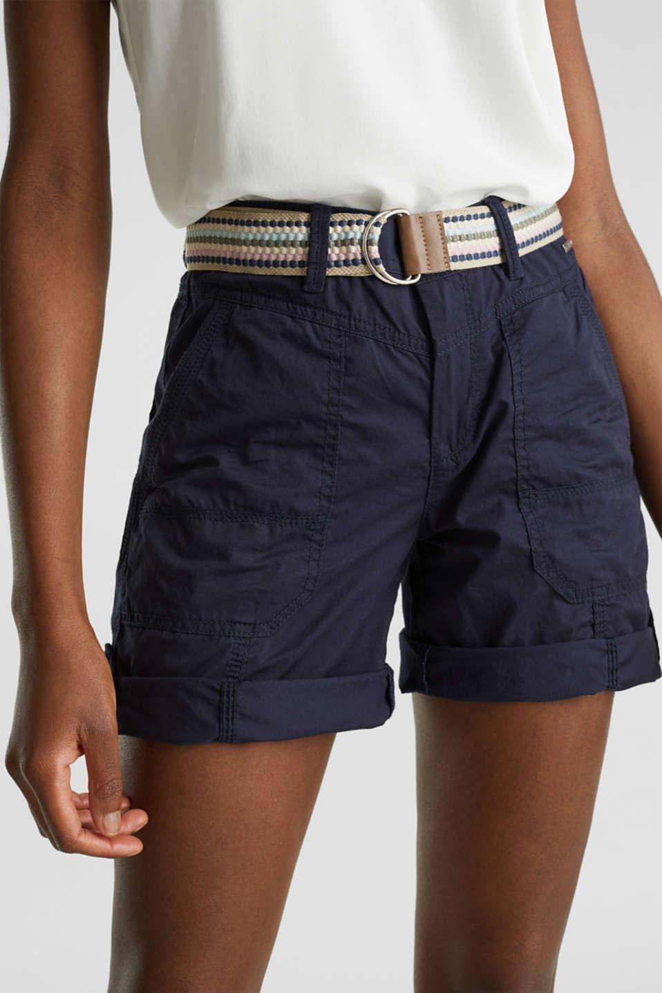PLAY organic cotton shorts, NAVY, detail image number 1