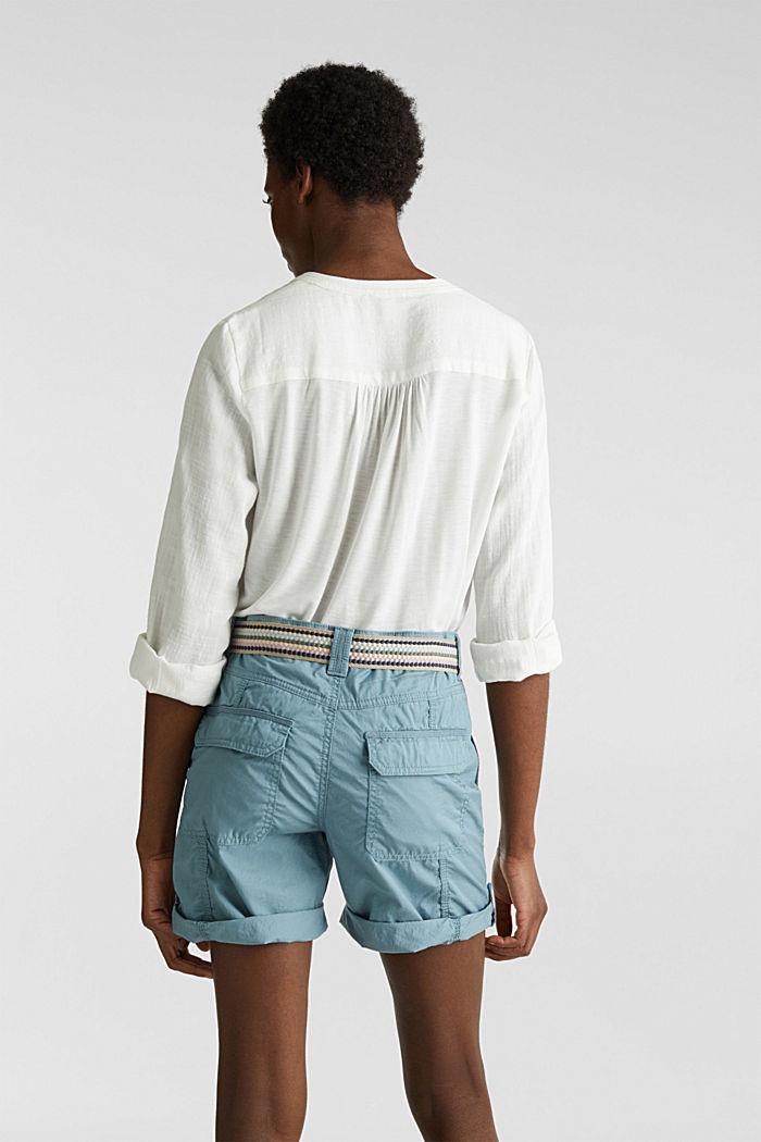PLAY Bio-Baumwoll-Shorts, GREY BLUE, detail image number 3