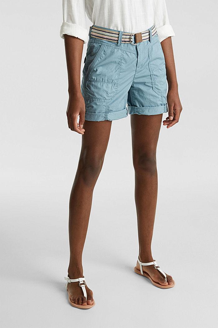 PLAY Bio-Baumwoll-Shorts, GREY BLUE, detail image number 6