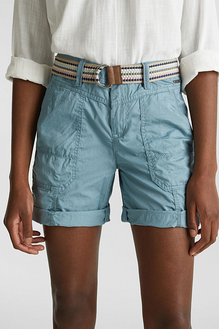 PLAY organic cotton shorts, GREY BLUE, detail image number 2