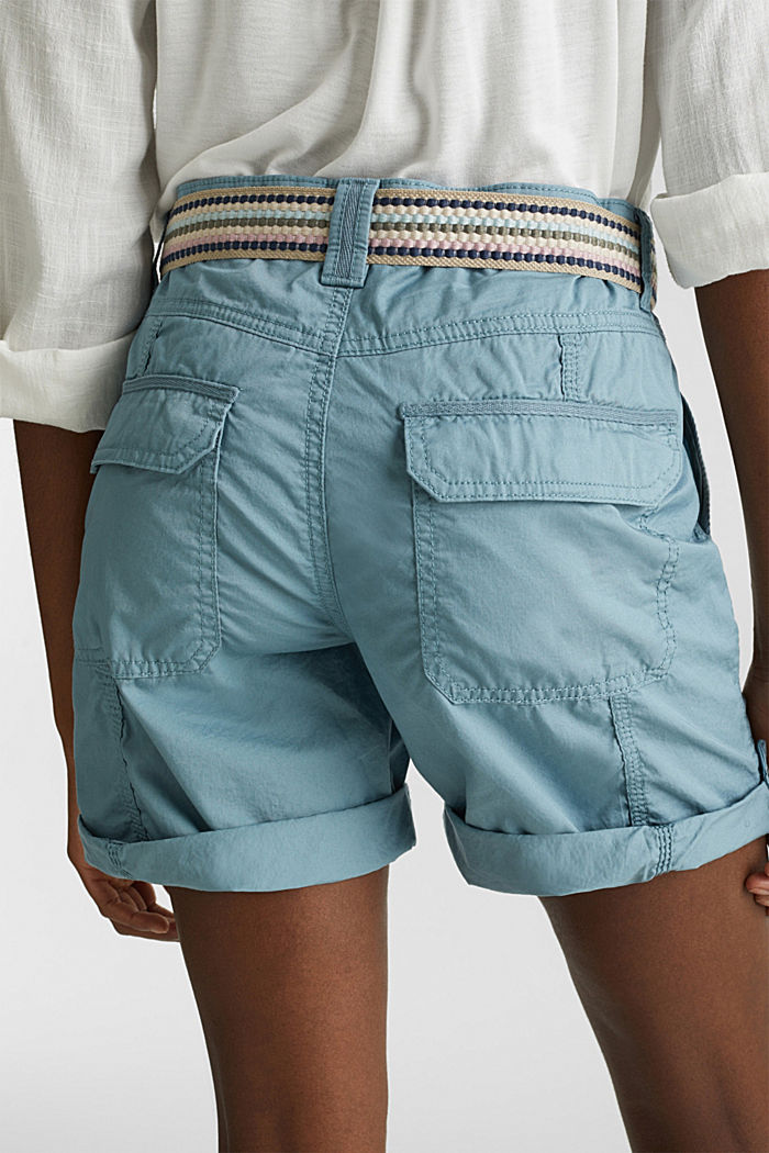 PLAY organic cotton shorts, GREY BLUE, detail image number 5