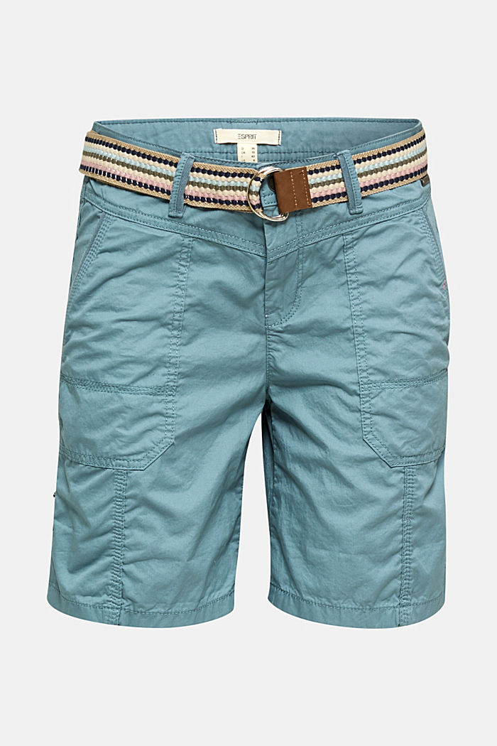 PLAY Bio-Baumwoll-Shorts, GREY BLUE, overview