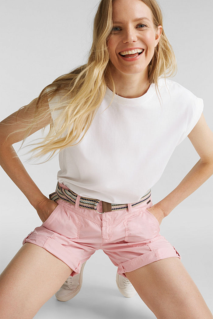 PLAY organic cotton shorts, PINK, detail image number 6