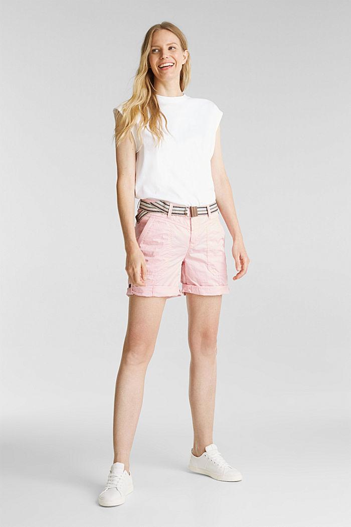 PLAY organic cotton shorts, PINK, detail image number 1