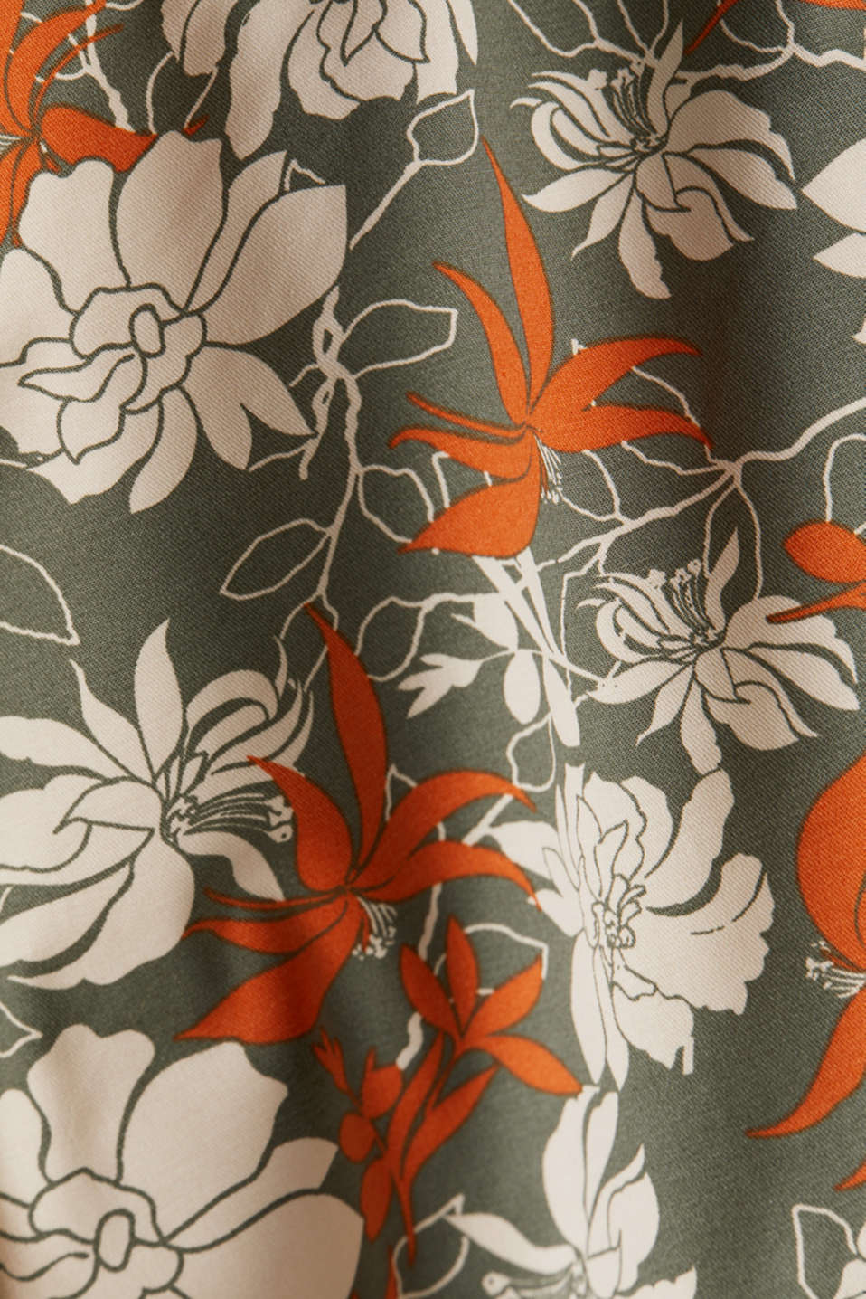 Shorts with a floral print, KHAKI GREEN 4, detail image number 4