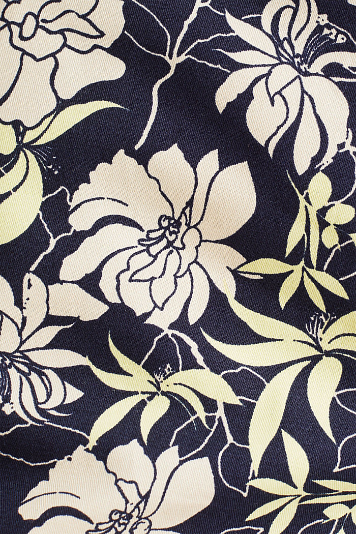 Shorts with a floral print, NAVY, detail image number 4