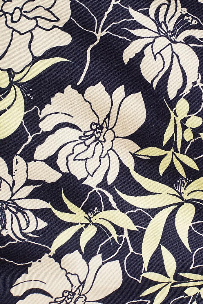 Szorty z kwiatowym nadrukiem, NAVY, detail image number 4