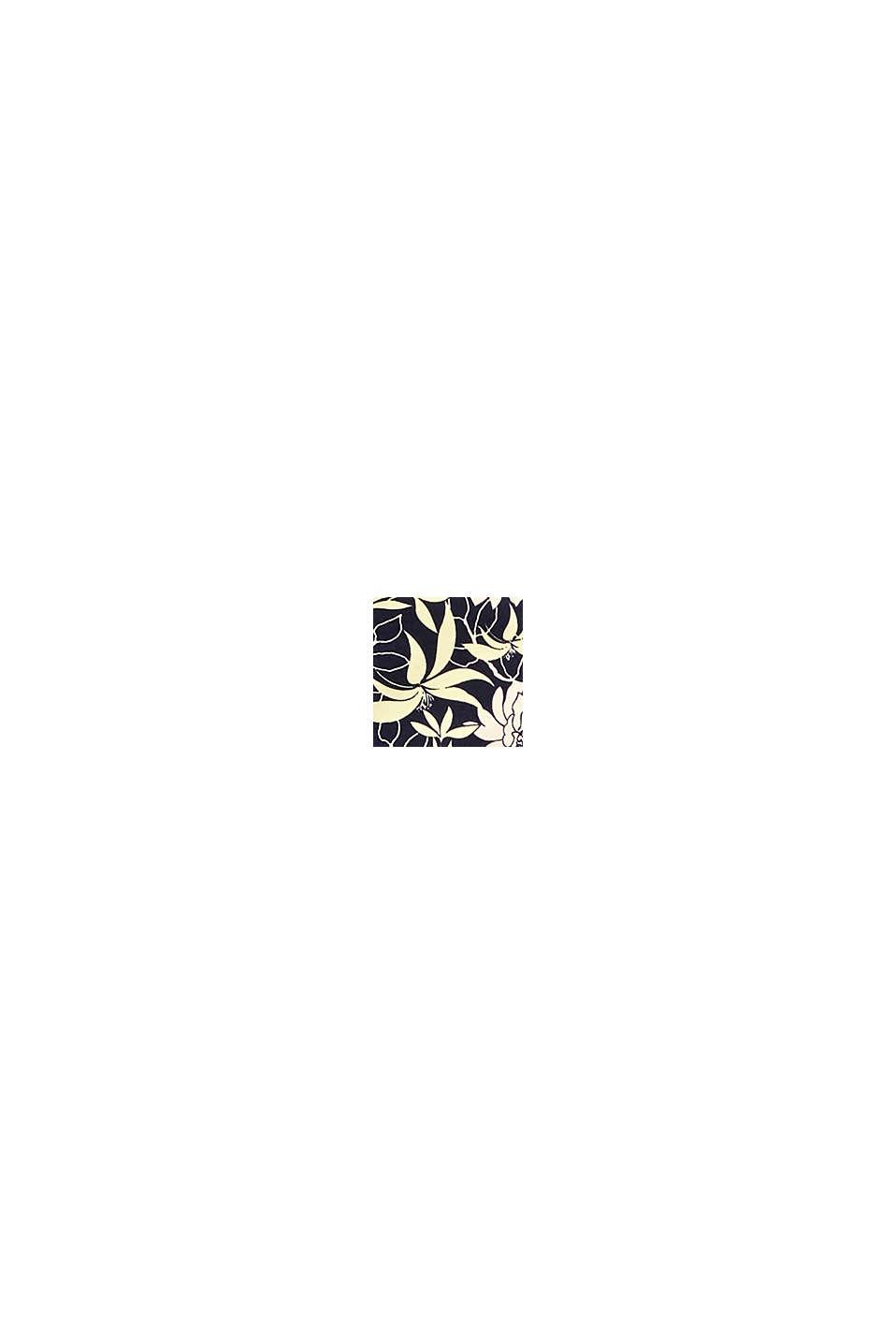 Shorts med blomsterprint, NAVY, swatch
