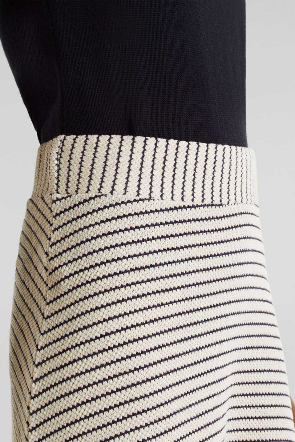 Jersey skirt with textured stripes, SAND, detail image number 2