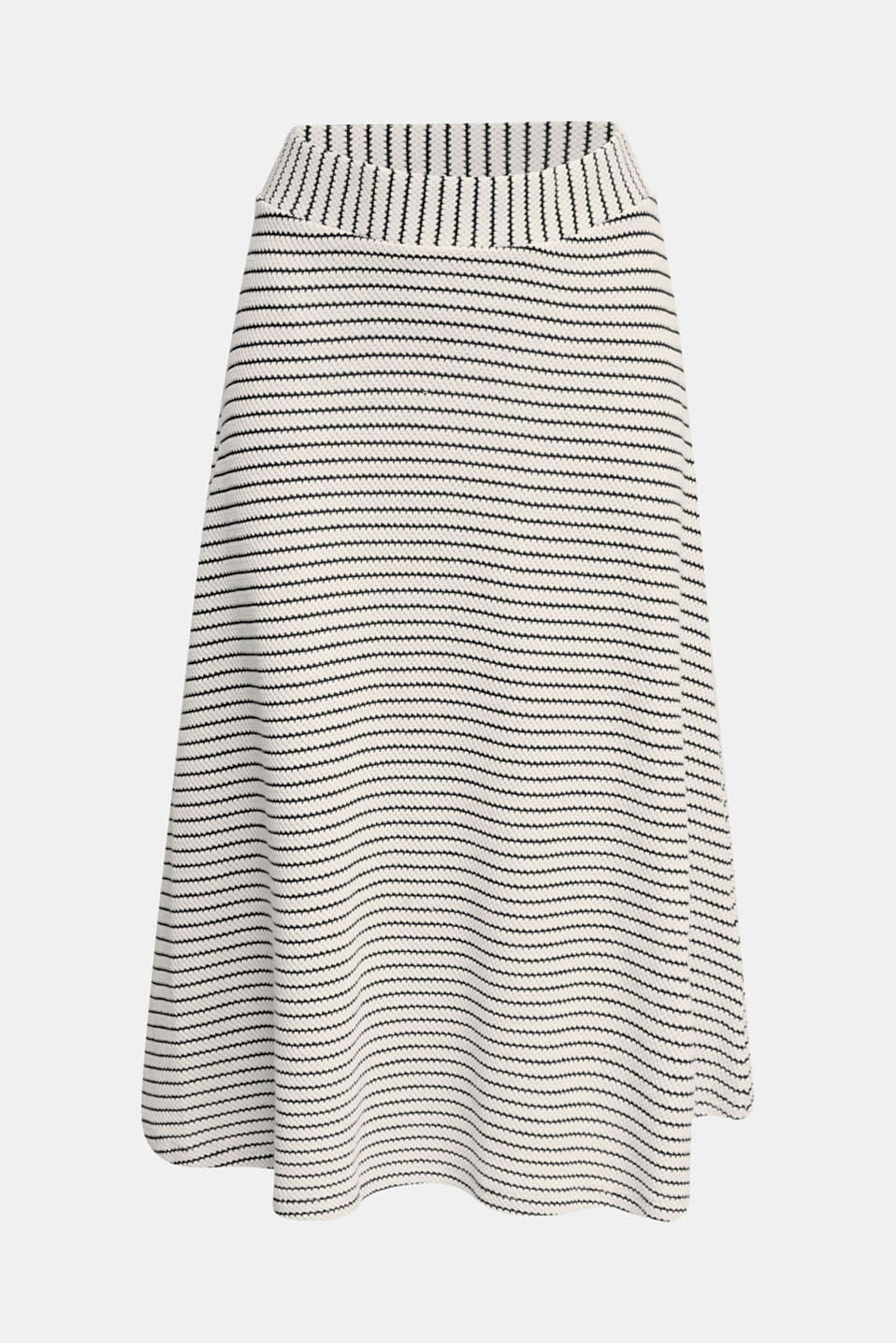 Jersey skirt with textured stripes, SAND, detail image number 6