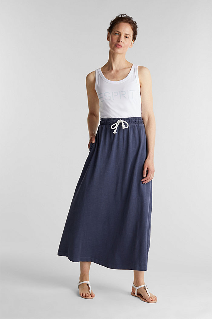 Jersey skirt made of 100% organic cotton, NAVY, detail image number 0