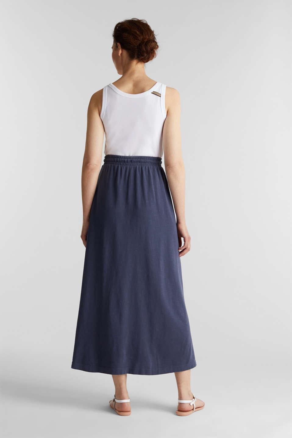 Jersey skirt made of 100% organic cotton, NAVY, detail image number 3