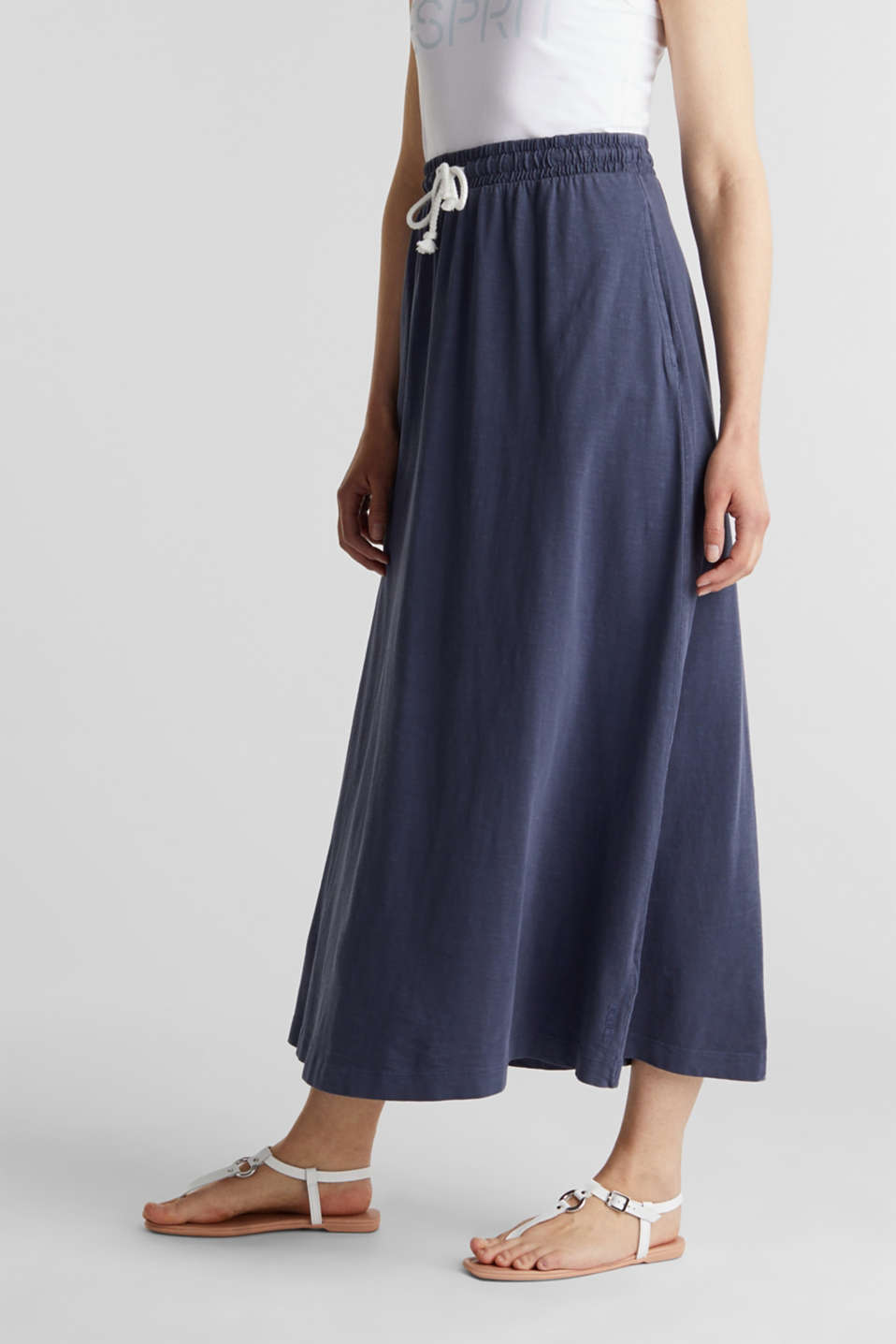 Jersey skirt made of 100% organic cotton, NAVY, detail image number 5