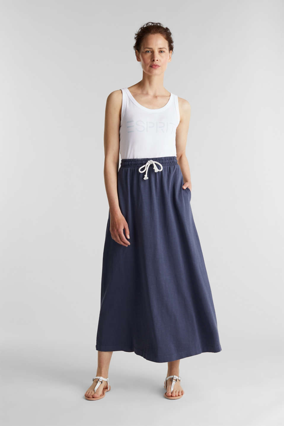 Jersey skirt made of 100% organic cotton, NAVY, detail image number 1