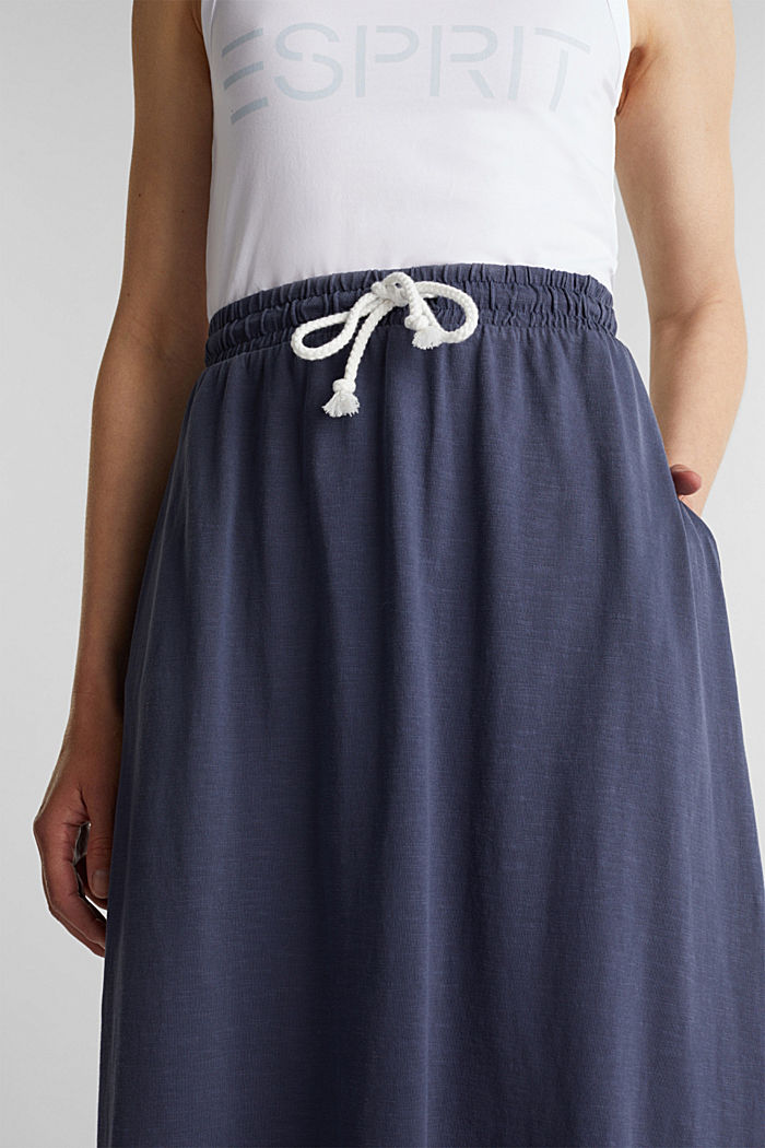 Jersey skirt made of 100% organic cotton, NAVY, detail image number 2