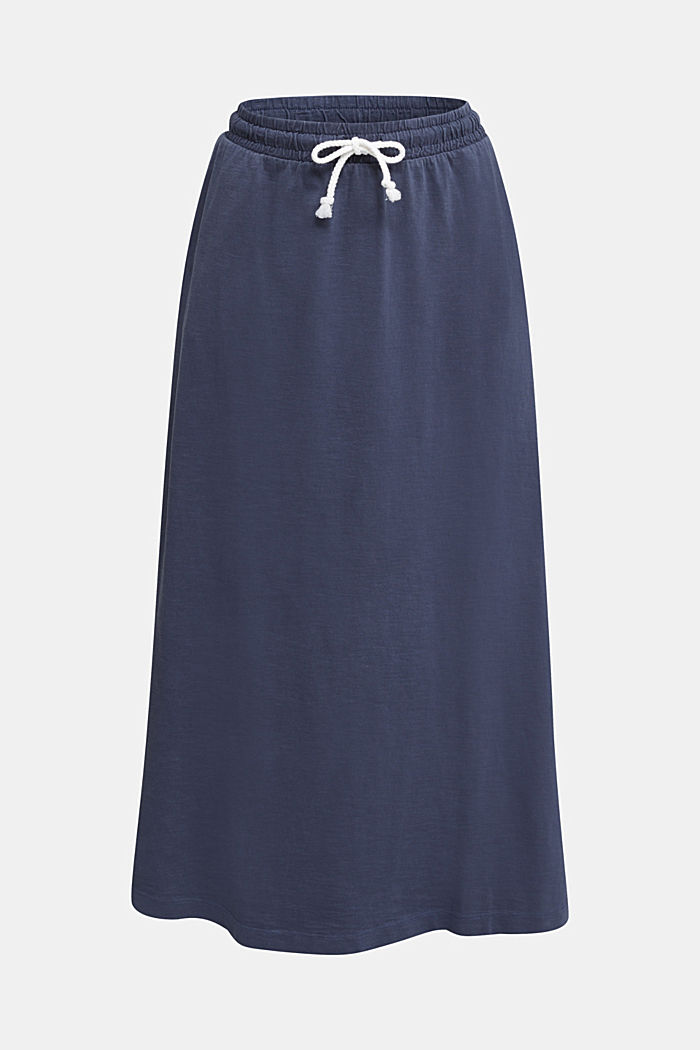 Jersey skirt made of 100% organic cotton, NAVY, detail image number 6