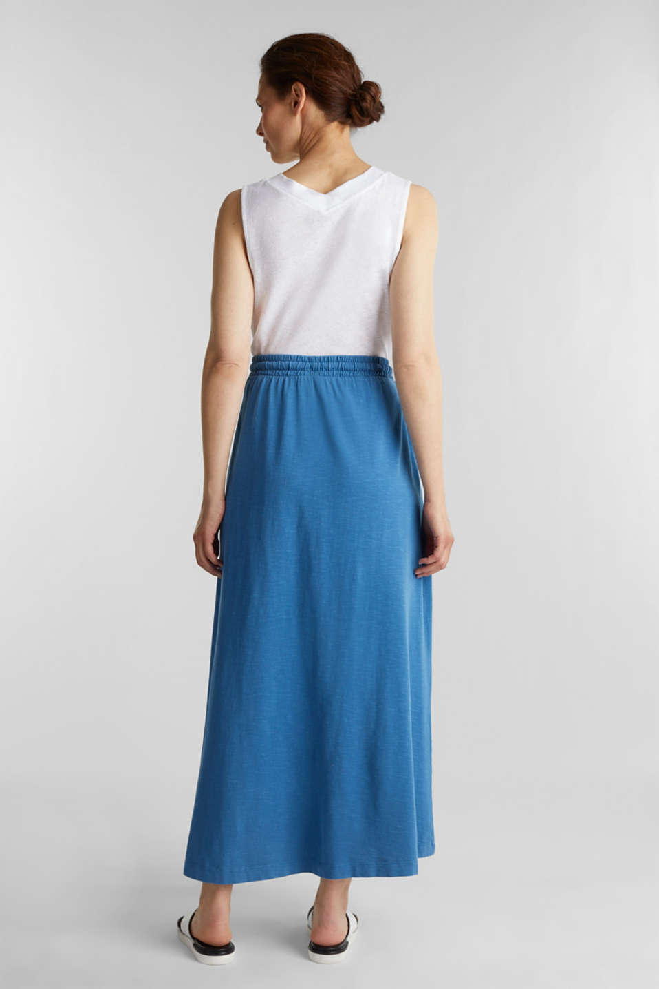 Jersey skirt made of 100% organic cotton, BRIGHT BLUE 2, detail image number 3