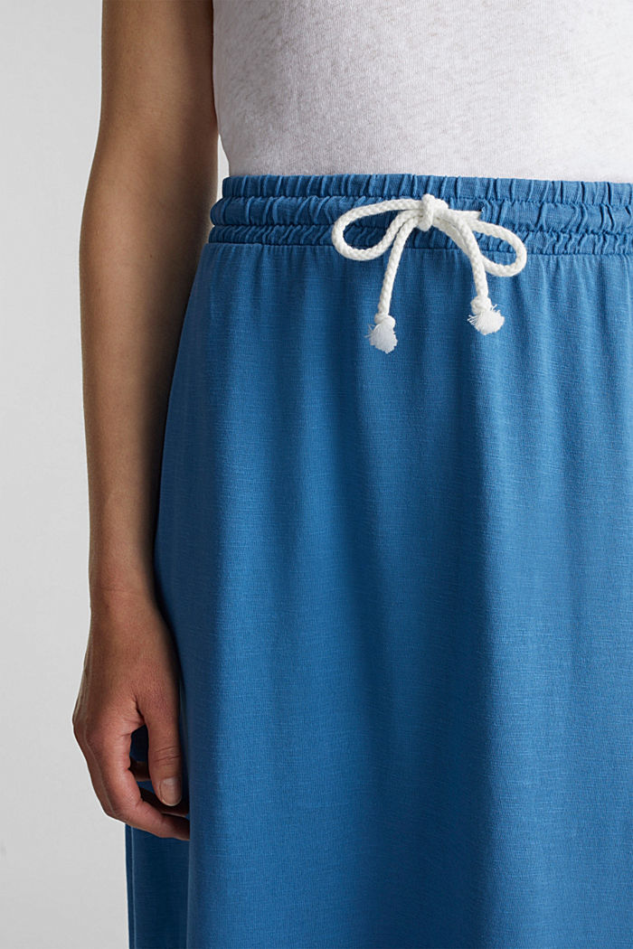 Jersey skirt made of 100% organic cotton, BRIGHT BLUE, detail image number 2