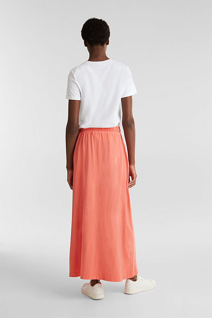 Jersey skirt made of 100% organic cotton, CORAL, detail image number 3