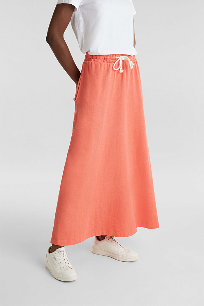 Jersey skirt made of 100% organic cotton, CORAL, detail image number 5