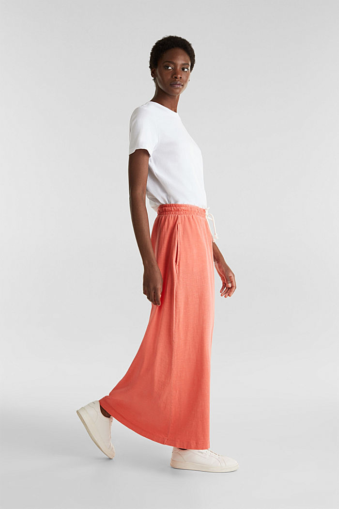 Jersey skirt made of 100% organic cotton, CORAL, detail image number 1