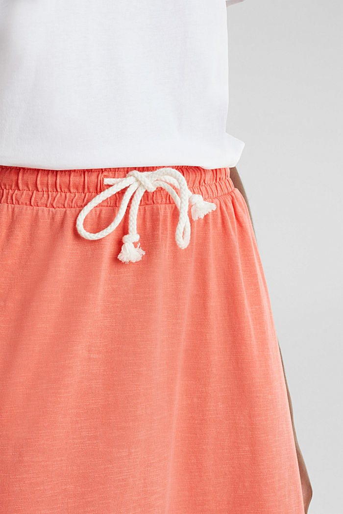 Jersey skirt made of 100% organic cotton, CORAL, detail image number 2
