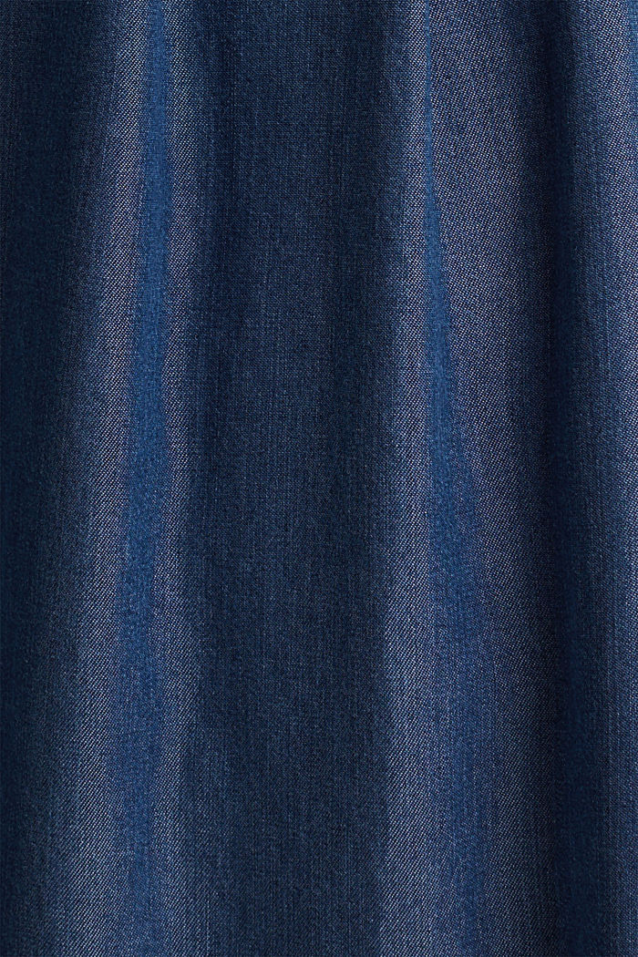 Aus TENCEL™: Paperbag-Rock, BLUE DARK WASHED, detail image number 4