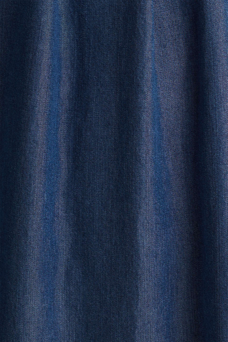 Skirt with a paperbag waistband made of TENCEL™, BLUE DARK WASH, detail image number 4